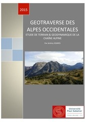 geotraverse des alpes occidentales