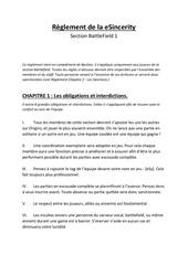 Fichier PDF reglement de la esincerity