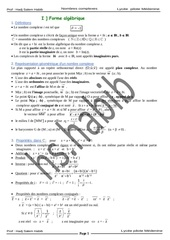 resume1 complexe bac maths