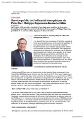 service public de l efficacite energetique de picardie philippe rapeneau dresse le bilan environnement magazine fr