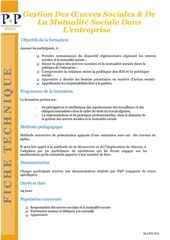 11 gestion des oeuvres sociales