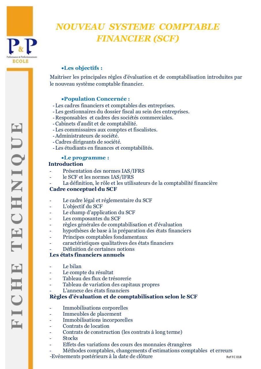 plan comptable scf algerie pdf