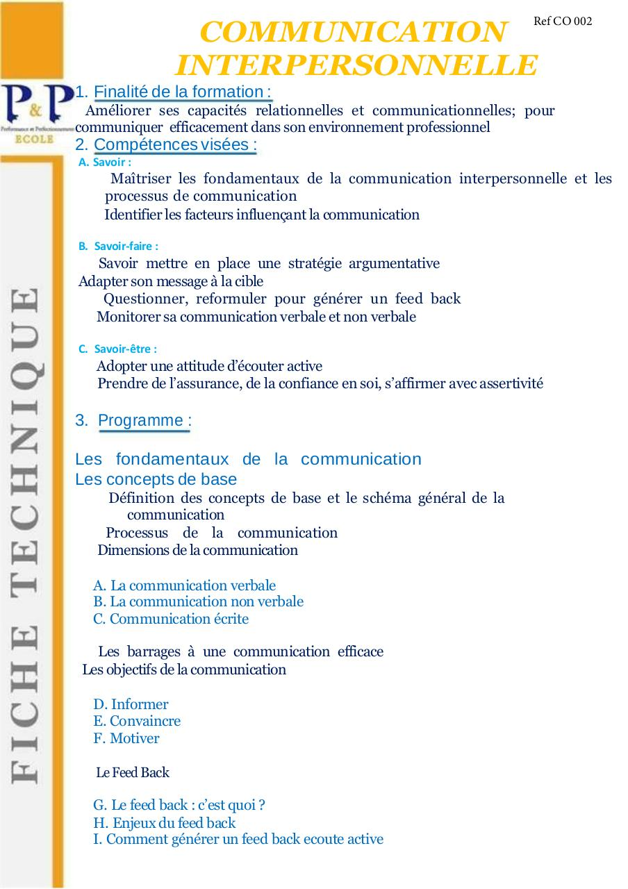 20 Communication Interpersonnelle Par Sail P P Fichier Pdf