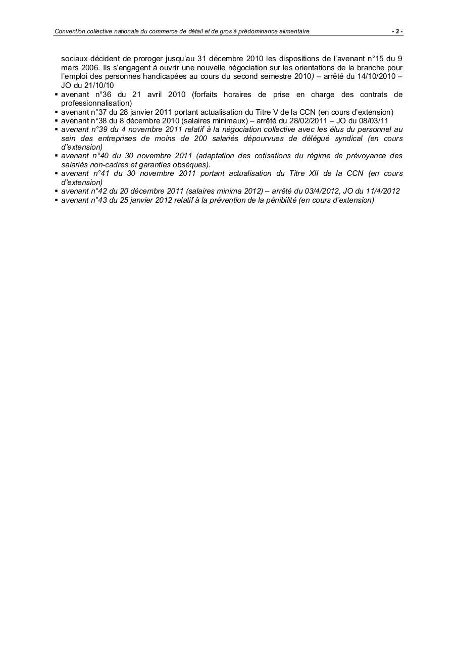 Ccn Commerce Detail Et Gros A Predominance Alimentaire Fichier Pdf