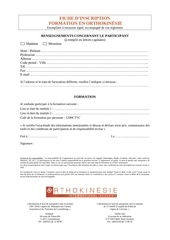 fiche d inscription formation en orthokinesie