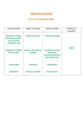 Fichier PDF menus de la cantine 7 nov