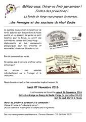 Fichier PDF bon commande fromages saucisses