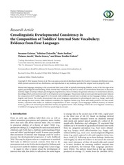 kristen crosslinguistic developmental consistency
