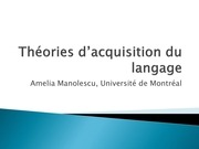 theories dacquisition du langage
