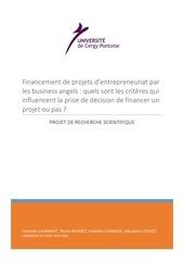 projet recherche scientifique pdf