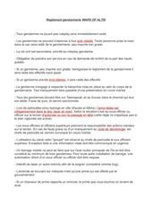 regle gendarmerie