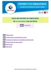 liste formations dt49 saumur beaufort secteur agriculture