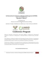 conference program icbmm16