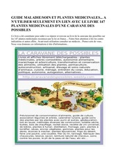 guide maladie soin plante caravane des possibles