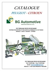 catalogue bga peugeot citroen 10 2016