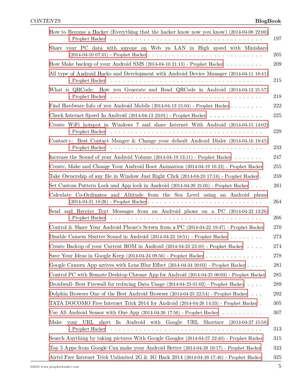 Prophet Hacker Android Hacking Blog Book par Vinay Kumar - Fichier PDF