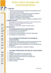 Fichier PDF 32 faire vivre un plan de communication a envoyer