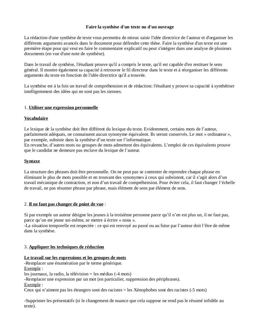 méthodo synthese par Lauralie Chatelet - Fichier PDF