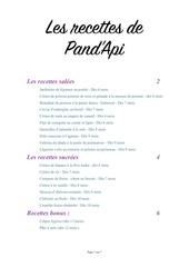 recettes de pand api