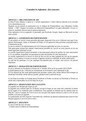 Fichier PDF jeu concours