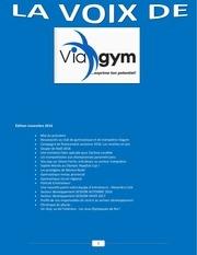 la voix de viagym Edition novembre 2016