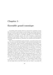 chapitre 5 ensemble grand canonique