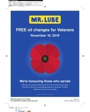 mr lube free oil change