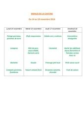 Fichier PDF menus de la cantine 14 nov