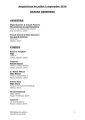 Fichier PDF aquisitions bd juillet septembre