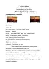 Fichier PDF cv belkhatir adda