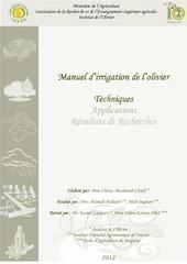 manuel irrigation olivier