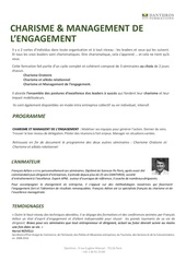 charisme et management engagement