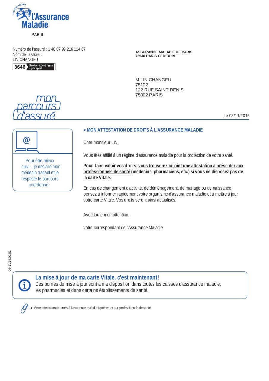Recherche Pdf Attestation Droits Cmuc