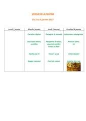 menus de la cantine 3 janv