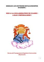 message aux ouvriers mettalurgistes d europe pdf