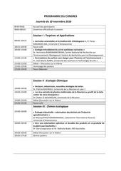 programme congres 10 et 11 novembre 2016