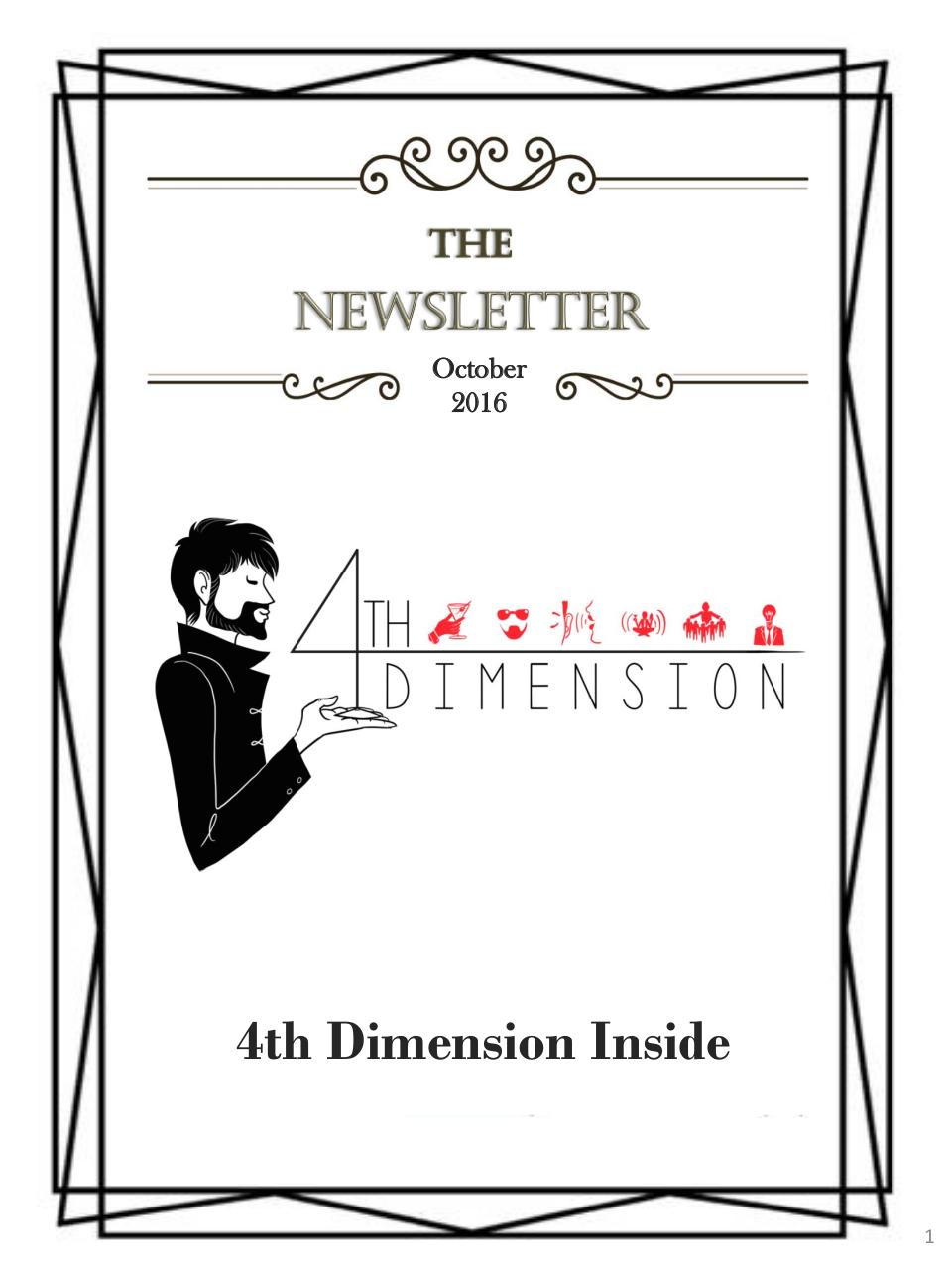 Aperçu du document 4th Dimension Newsletter # 3.pdf - page 1/15