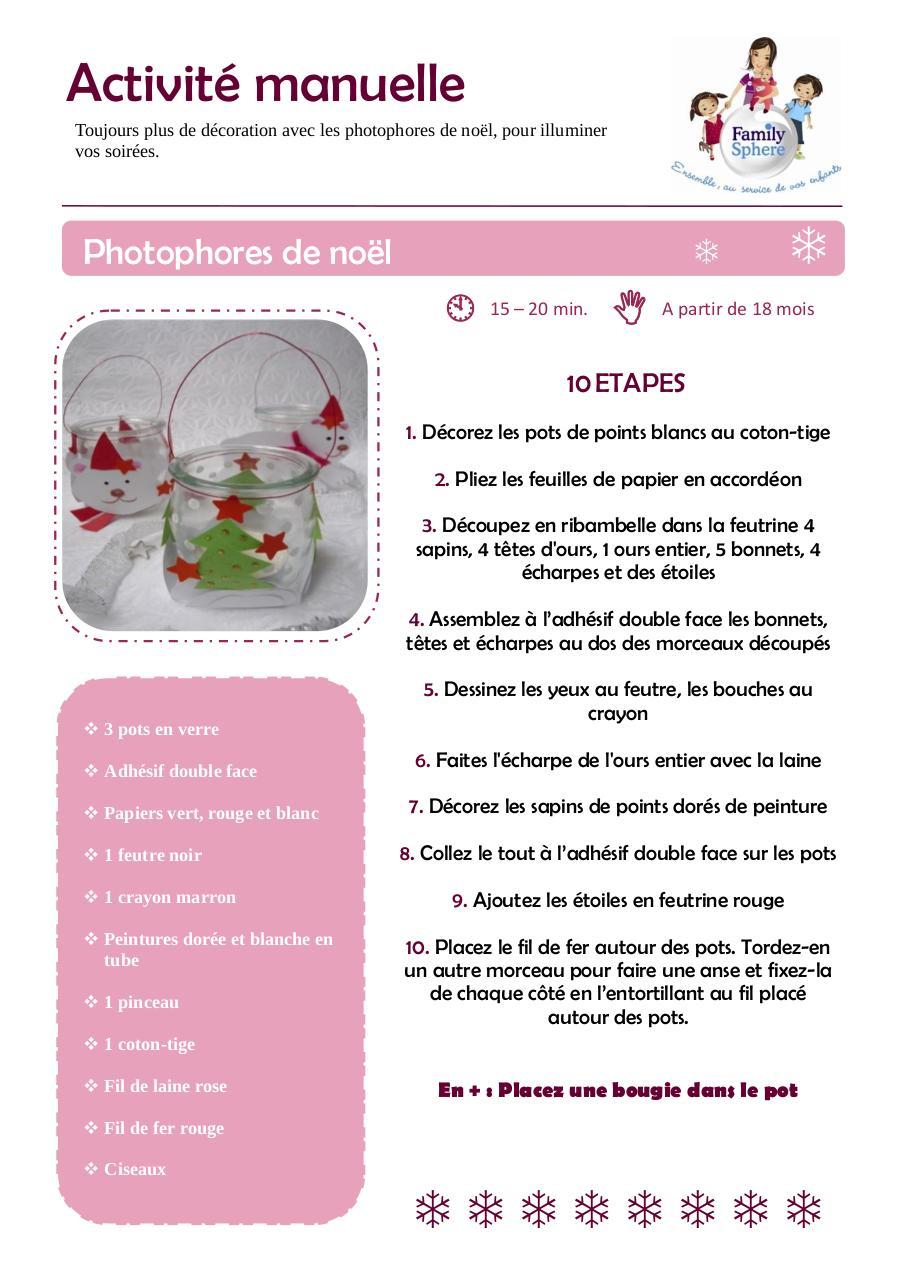 Célèbre Fiche d'activité manuelle - Photophores.pdf par Catherine Duban  NV83