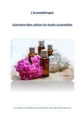 aromatherapie guide utilisation huiles essentielles