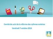 cr comite de suivi reforme rythmes scolaires oct 2016