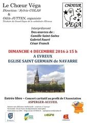 affiche concert 4 decembre 2016 choeur vega