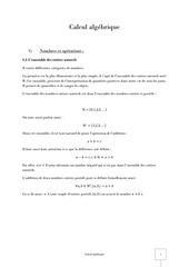calcul algebrique correct