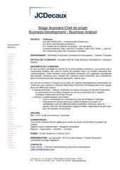 stage mkgintrtnal jcdecaux january 2017 business analyst