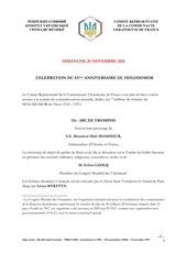 programme de la journe e du holodomor 2016