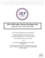 jef label business developper paris