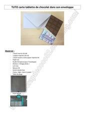 tuto carte tablette de chocolat dans son enveloppe