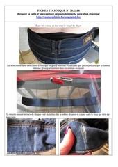 50 23 06 reduire taille ceinture pantalon avec elastique