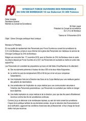 courrier a j greve chirurgie cardiaque 18 11 2016