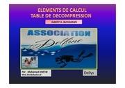 element de calcul table de decompression v12