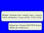 introduction a la zoologie